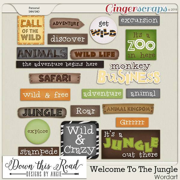 Welcome To The Jungle Word Art