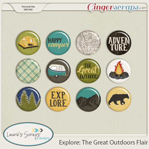 Explore: The Great Outdoors Flairs