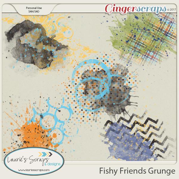Fishy Friends Grunge