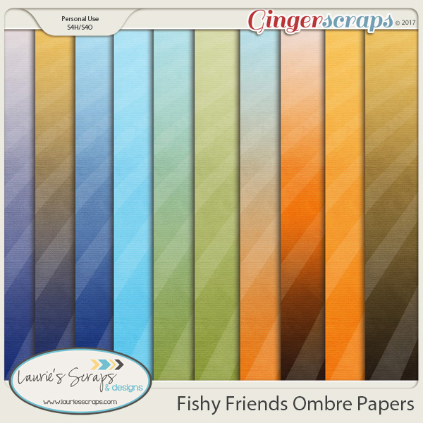 Fishy Friends Ombre Papers