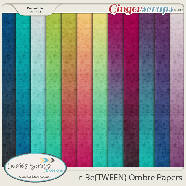 In Be{TWEEN} Ombre Papers