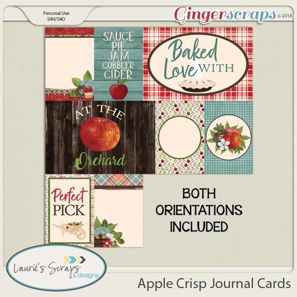 Apple Crisp Journal Cards