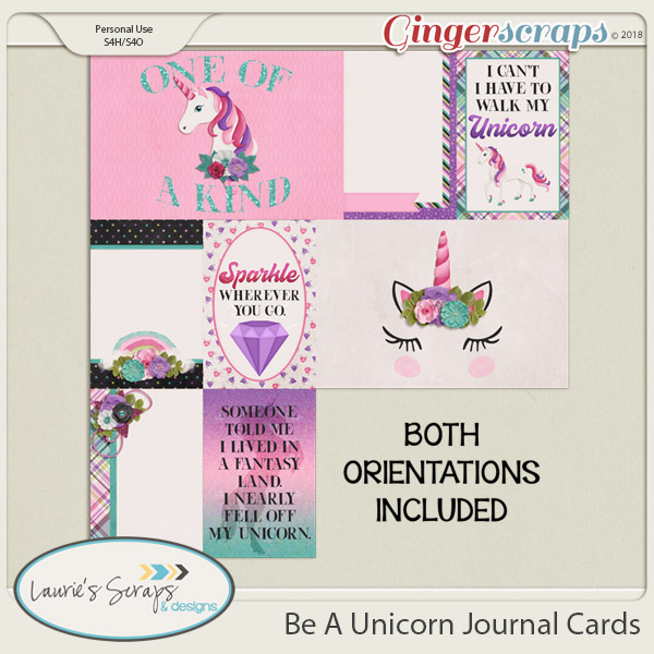 Be A Unicorn Journal Cards