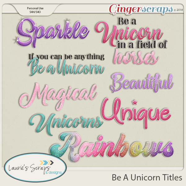 Be A Unicorn Titles