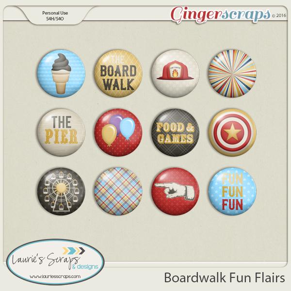 Boardwalk Fun Flairs