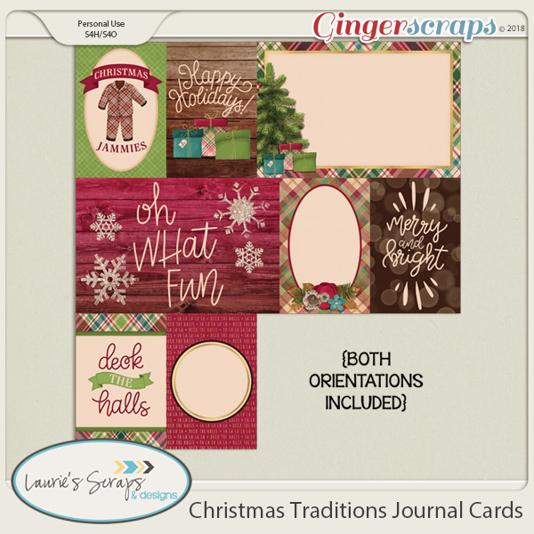 Christmas Traditions Journal Cards