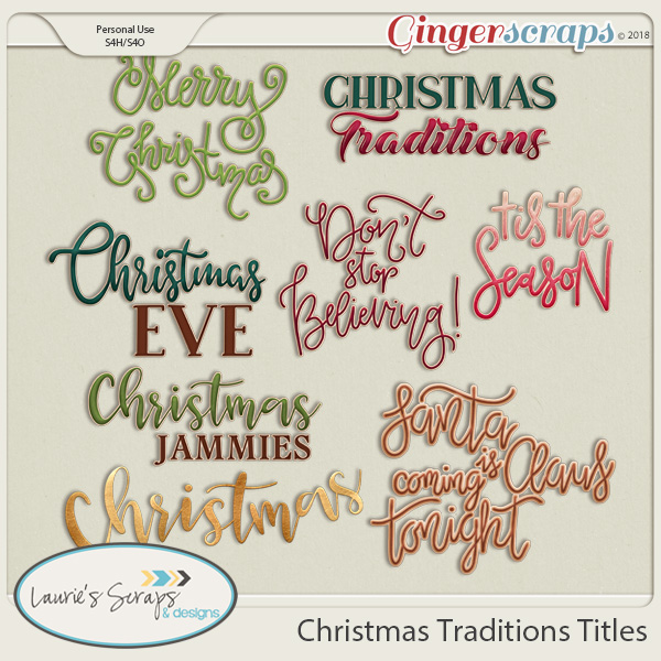 Christmas Traditions Titles