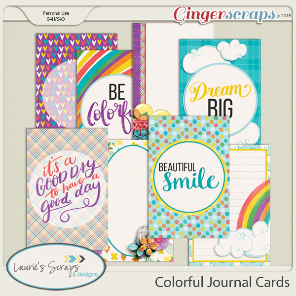 Colorful Journal Cards