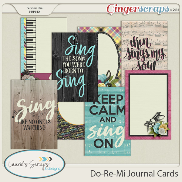 Do, Re, Mi Journal Cards