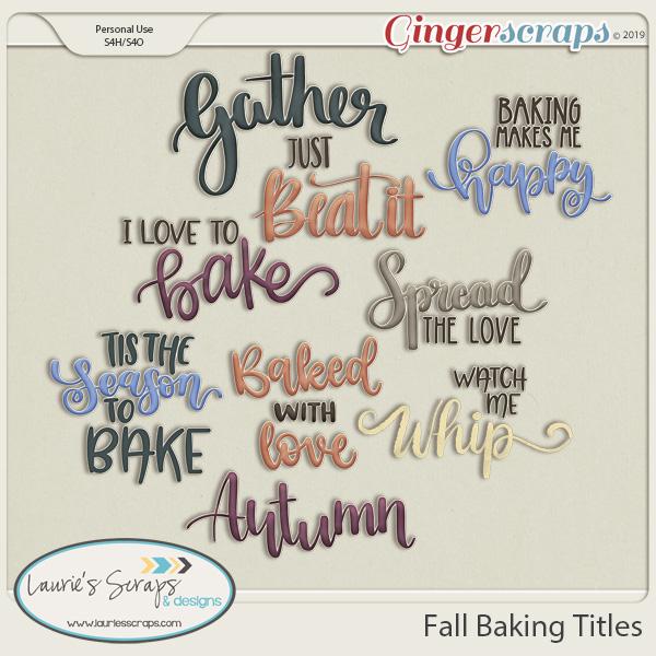 Fall Baking Titles