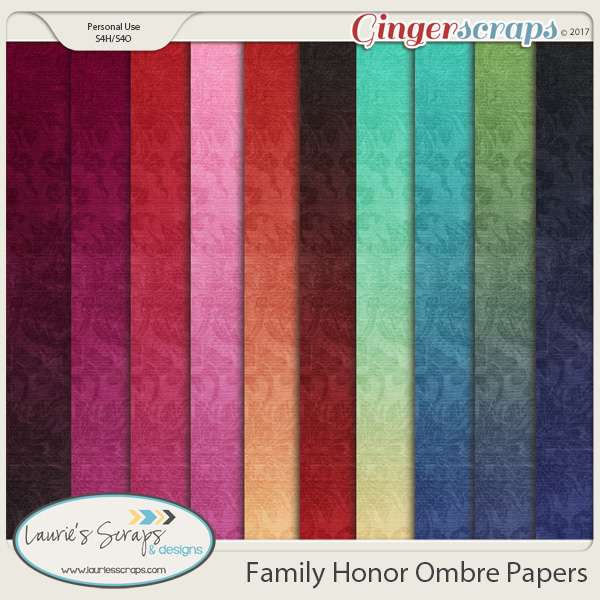 Family Honor Ombre Papers