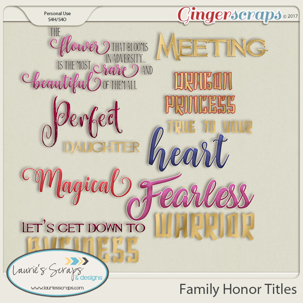 Family Honor Titles