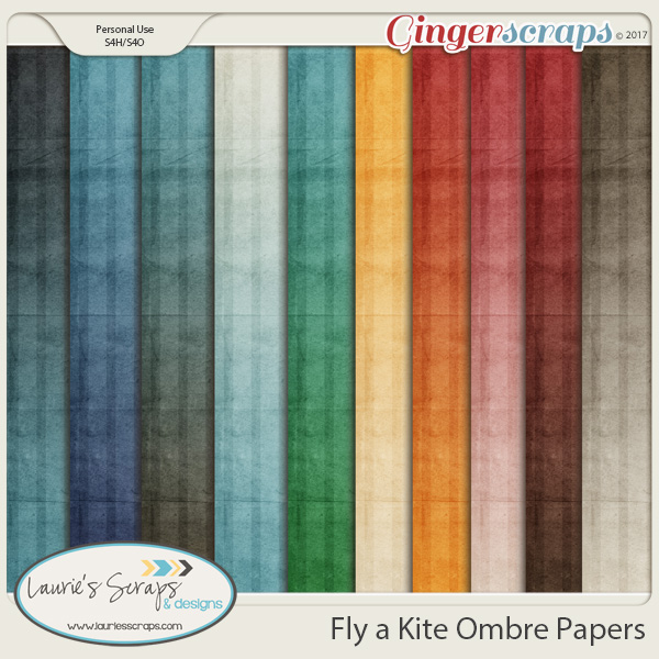 Fly a Kite Kit Ombre Papers