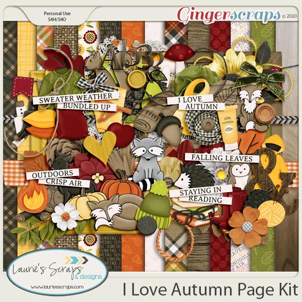 I Love Autumn Page Kit