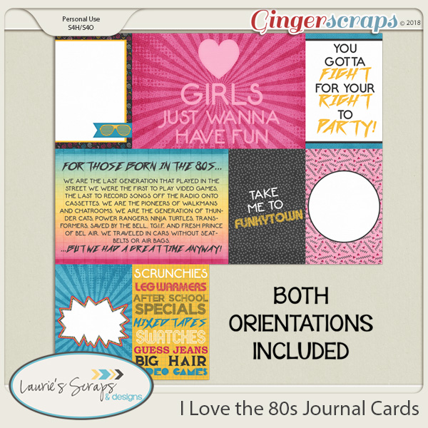 I Love the 80s Journal Cards
