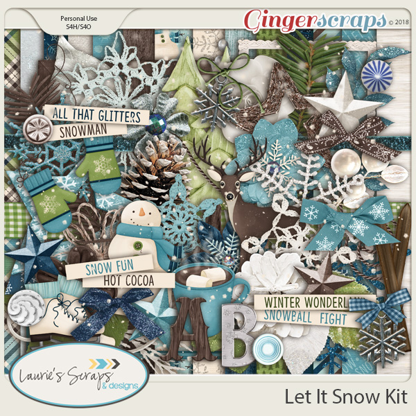 Let It Snow Page Kit