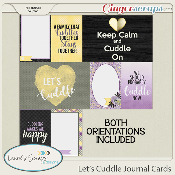 Let's Cuddle Journal Cards