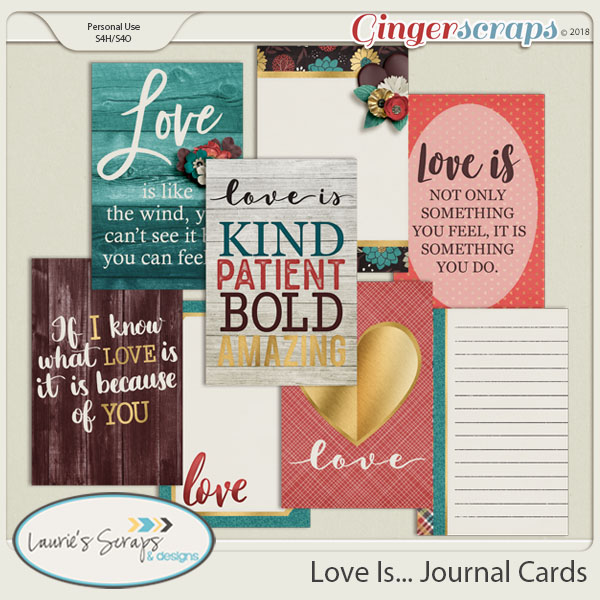 Love Is... Journal Cards