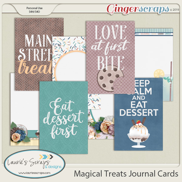 Magical Treats Journal Cards