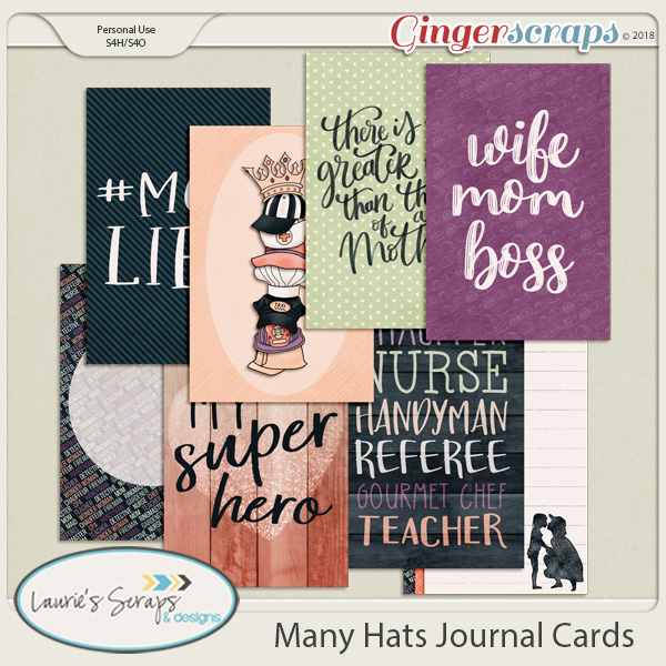 Many Hats Journal Cards