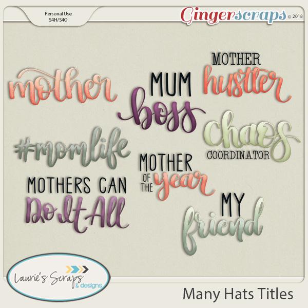 Many Hats Titles