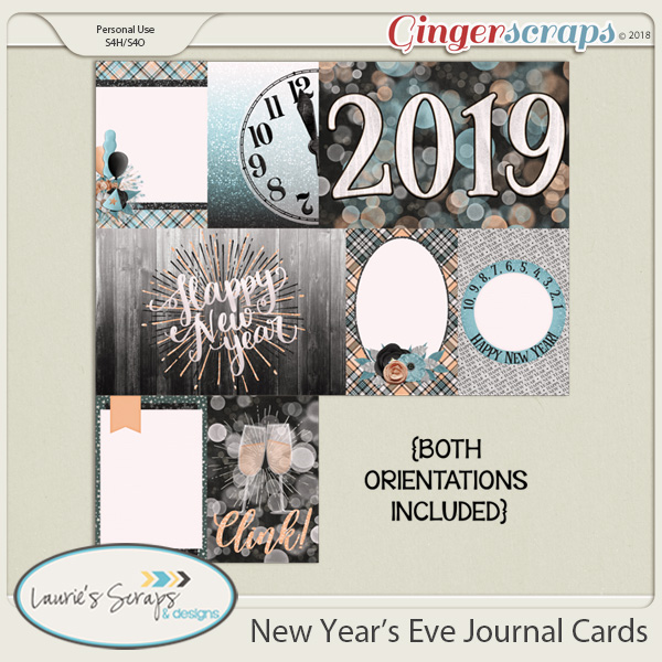 New Year's Eve Journal Cards