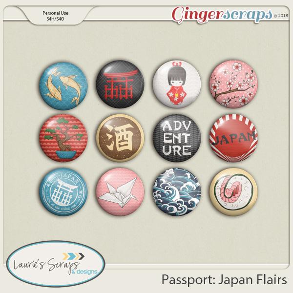 Passport: Japan Flairs