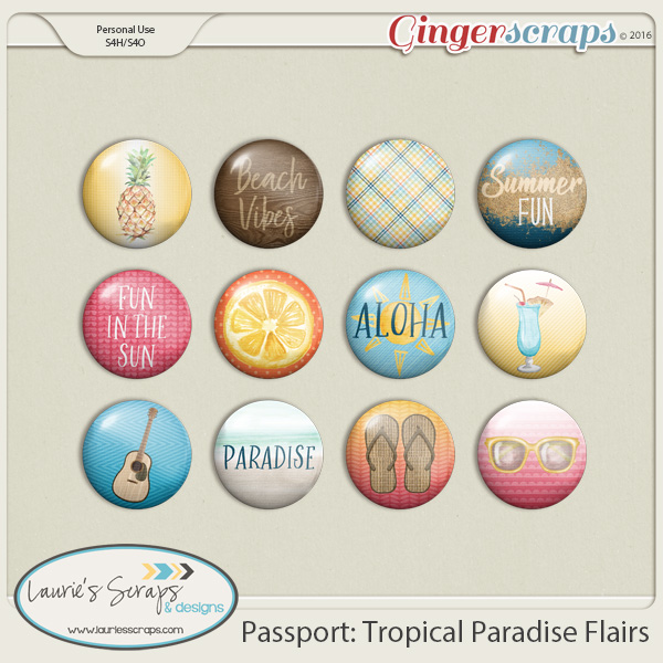 Passport: Tropical Paradise Flairs