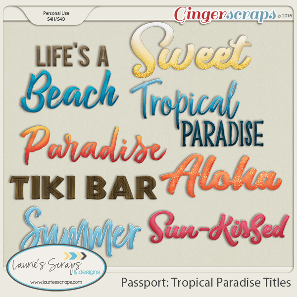 Passport: Tropical Paradise Titles