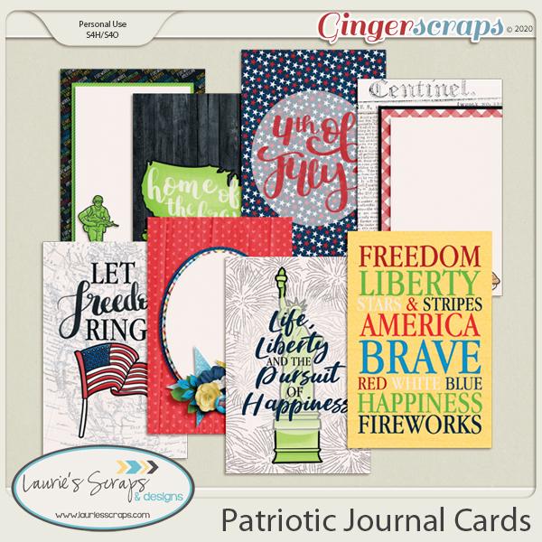 Patriotic Journal Cards