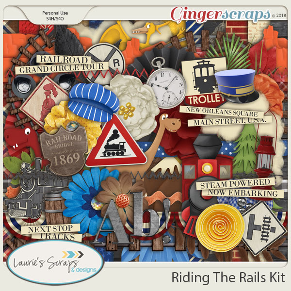 Riding The Rails Page Kit