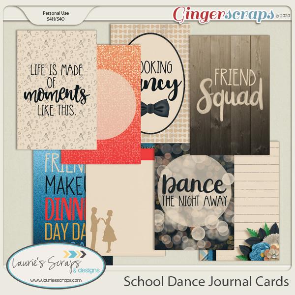 School Dance Journal Cards