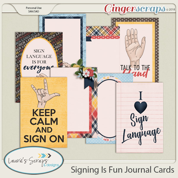 Signing Is Fun Journal Cards