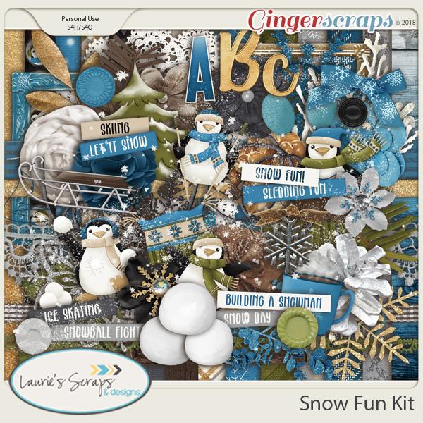 Snow Fun Page Kit
