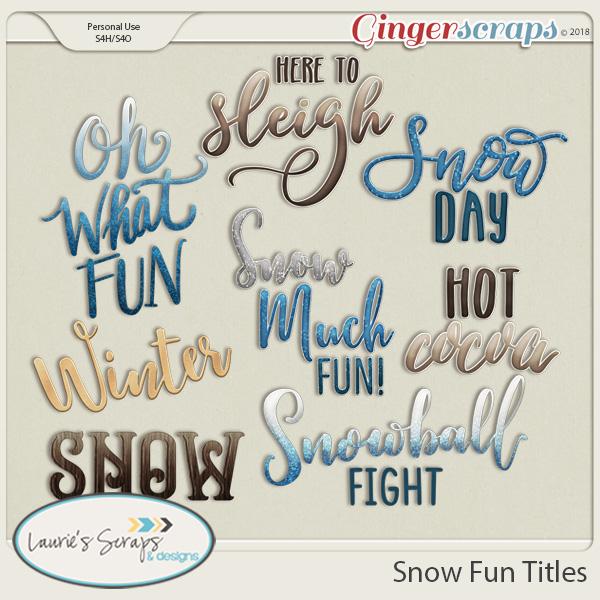 Snow Fun Titles