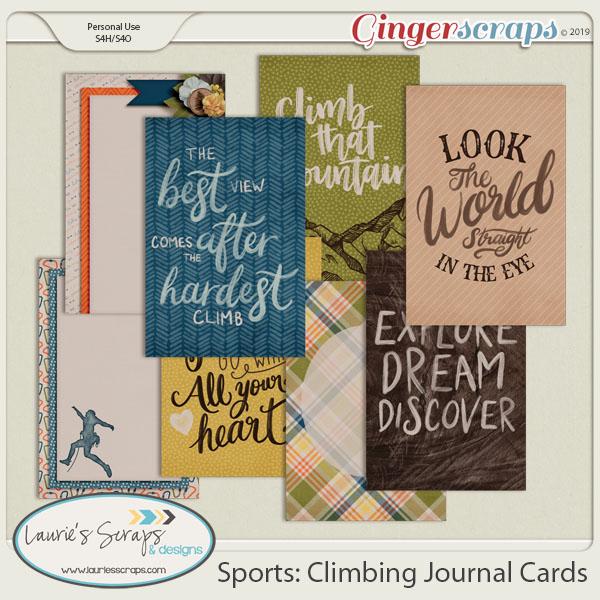 Sports: Climbing Journal Cards