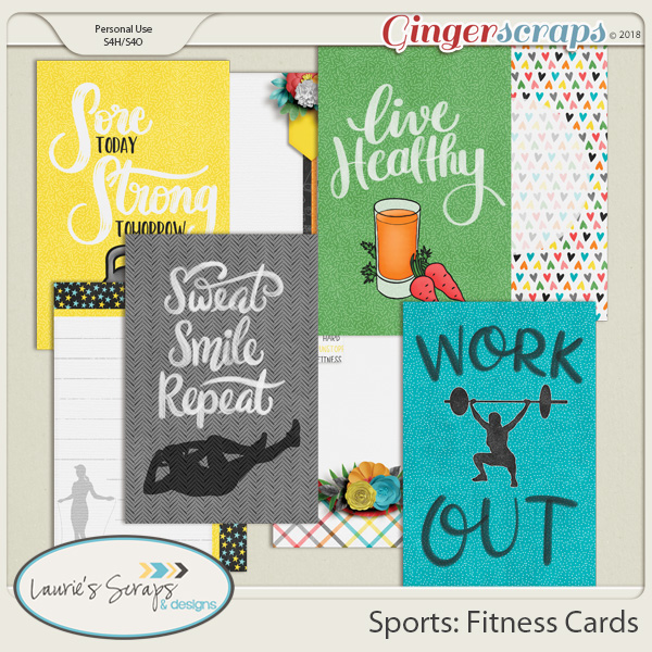 Sports: Fitness Journal Cards