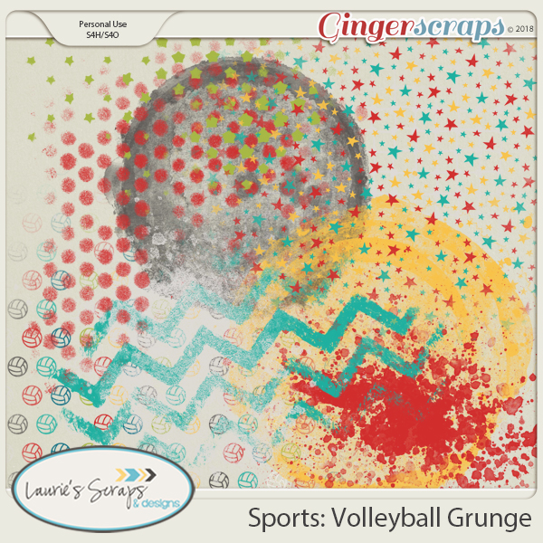 Sports: Volleyball Grunge