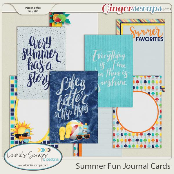Summer Fun Journal Cards