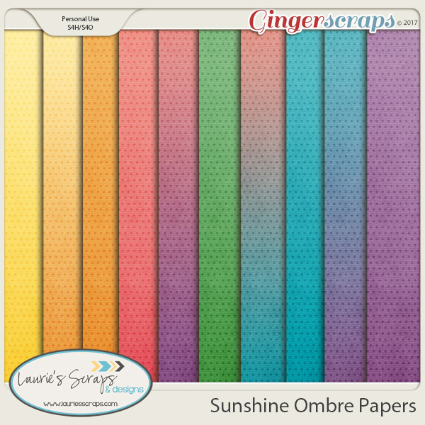 Sunshine Ombre Papers