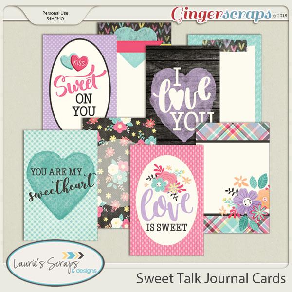 Sweet Talk Journal Cards