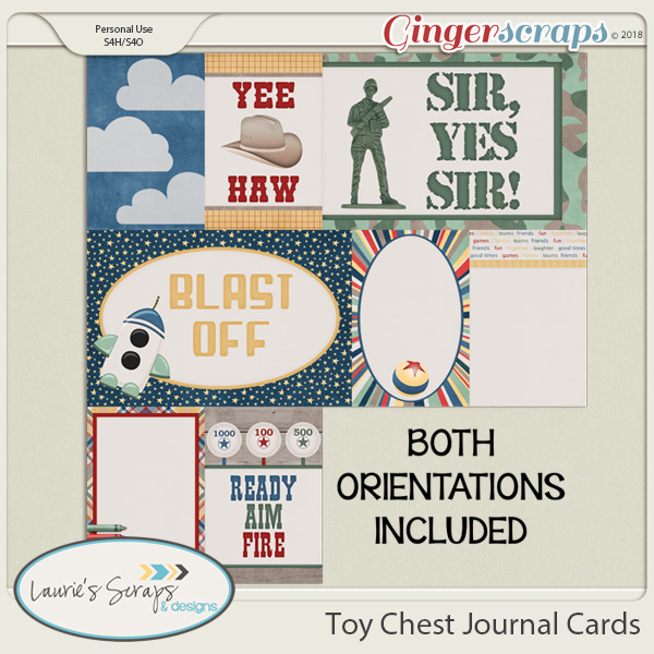 Toy Chest Journal Cards
