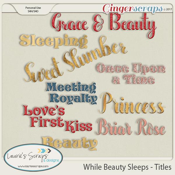 While Beauty Sleeps Titles