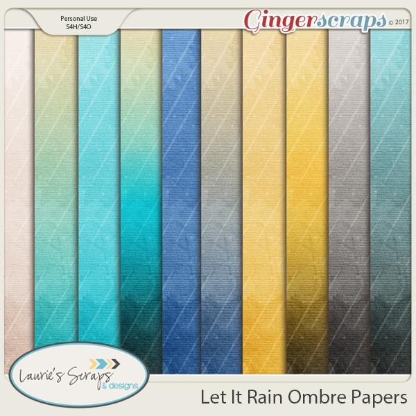Let It Rain Ombre Papers