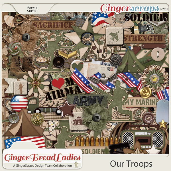GingerBread Ladies Collab: Our Troops