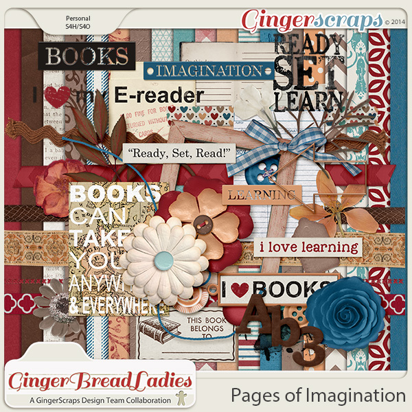 GingerBread Ladies Collab: Pages Of Imagination