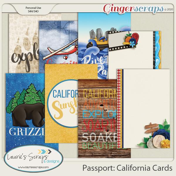 Passport: California Journal Cards