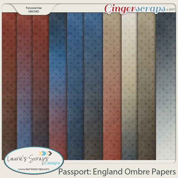 Passport: England Ombre Papers