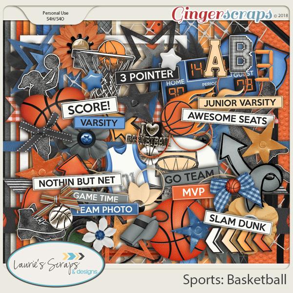 Sports: Basketball Page Kit