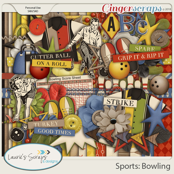 Sports: Bowling Page Kit